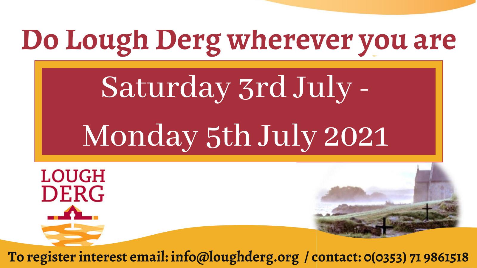 Do Lough Derg wherever you are